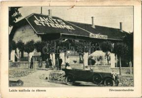 1933 Hévízszentandrás (Hévíz), Lakits szálloda és étterem, automobil. Pál felvétele (EK)