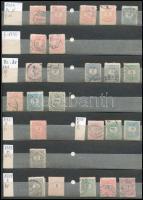 Rendkívül tartalmas és jó minőségű magyar tízes gyűjtemény: 5.240 különféle bélyeg tízes kötegekben közte 104 db 1913 előtti, 593 db 1913-1945 közötti, 665 db 1945-1956 közötti és 682 db 2000-2017 közötti bélyeg, továbbá 345 különféle portó és Hivatalos, valamint 61 különféle megszállás 10-es. A bélyegeken kívül 246 különféle blokk szintén tízes kötegekben, amelyeknek legalább 40%-a postatiszta. A bélyegek berakólapokon vannak feldolgozva, a blokkok tasakokban. Érdemes megnézni!! Gyűjtőnek, továbbadásra, feldolgozásra egyaránt alkalmas szép anyag!! / Collection of Hungarian bundles of 10, 5.240 different stamps + 246 different blocks, all 10 x, very good quality.