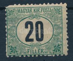 1903 Zöldportó A fogazás 20f (9.000) (foghibák / perf. faults)