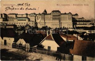 1905 Budapest I. Királyi várpalota a Tabánról nézve