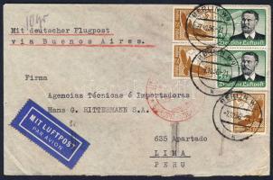 1932 Légi levél Peruba / Airmail cover to Peru