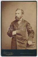 cca 1885 Budapest, Ellinger Ede és Testvére kir. udvari fényképészek műtermében készült, keményhátú, vintage fotó, 17x11 cm