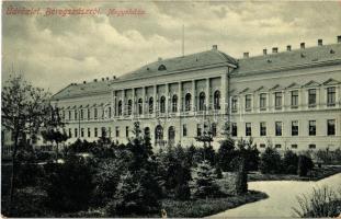 1916 Beregszász, Beregovo, Berehove; megyeháza. W.L. Bp. 6052. / county hall (szakadás / tear)