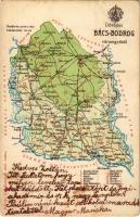 1900 Bács-Bodrog vármegye térképe. Kiadja Károlyi Gy. / Map of Backo-Bodroska county (EK)