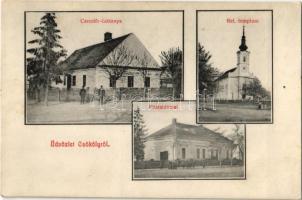 Csököly, Csendőrlaktanya, Református templom, Posta hivatal