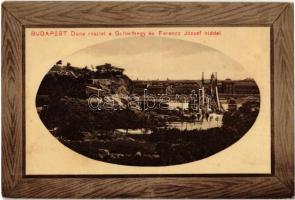 Budapest XI. Duna részlet a Gellértheggyel és Ferenc József híddal