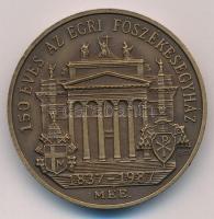 Bognár György (1944-) 1987. 150 éves az Egri Főszékesegyház 1837-1987 / J.L. PYRKER AEPPUS AGRIENSIS AEDIFICATOR ECCL METROP kétoldalas, piefort Br emlékérem (42,5mm) T:1-
