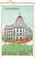 1911 Budapest V. Pesti Magyar Kereskedelmi Bank új intézeti háza, épült 1909-ben s: L.A. (EK)