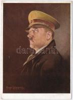 1940 Adolf Hitler, NSDAP German Nazi Party propaganda s: Hugo Lehmann + Nürnberg die Stadt der Reichsparteitage Geburtstag des Führers 20. 4. 40. So. Stpl. Oberkommando der Wehrmacht geprüft (EK)