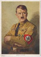 Adolf Hitler, NSDAP German Nazi Party propaganda, swastika. F. A. Ackermanns Kunstverlag Nr. 7064. s: Hans Toepper