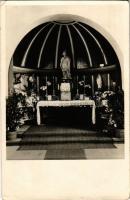1941 Győr, Nádorváros, Szt. Imre szükségkápolna oltára, belső. Templomépítő Bizottság kiadása (EK)