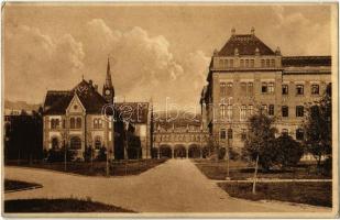 1928 Budapest XI. Ferenc József Műegyetem, Könyvtár épület. Rökel felvétele (EK)