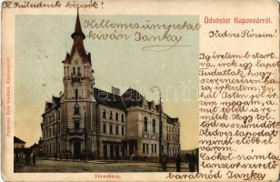 ~1905 Kaposvár, Városháza. Fenyvesi Béla kiadása (EK)