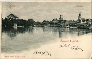 1903 Győr, Püspökvár, színház, Pannonia könyvnyomda. Berecz Viktor kiadása