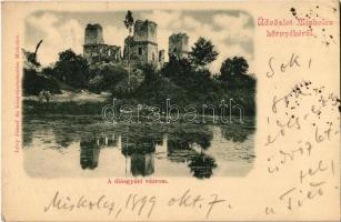 1899 Diósgyőr (Miskolc), Diósgyőri várrom. Kiadja Lövy József