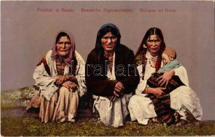 Pozdrav iz Bosne / Bosnische Zigeunerinnen / Bosnian gypsy women, folklore (fl)