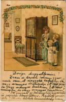 1930 Children art postcard. A.R. Nr. 1350. s: Pauli Ebner (EB)