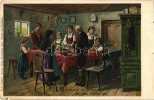 Mindennapi kenyerünket add meg nékünk ma. Neuber Ráfáel műkiadása. S. 37. Imánk litho s: E. Döcker jun. (kis szakadás / small tear)