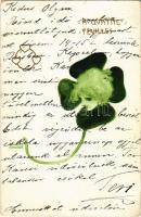 1901 A Quattre Feuilles / Four-Leaf Clover. Art Nouveau lady. litho s: Raphael Kirchner (EB)