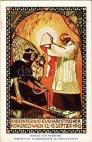 Rudolf von Habsburg verehrt das allerheiligste Altarssakrament. XXIII Internat. Eucharistischer Kongress Wien 12-15 September 1912 / 23th International Eucharistic Congress advertisement s: Josef Reich