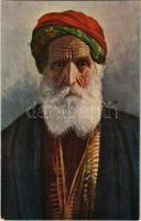 Bosnian old Jewish man. D.K. & Co. P. S. 313. Judaica (slightly wet corners)