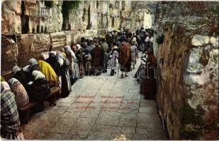 Jerusalem, Mur des pleurs / Klagemauer der Juden / Jews wailing place (Wailing Wall, Kotel). André Terzis & Fils, Beyrouth. Judaica (tear)