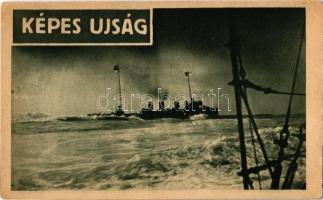 Cirkáló torpedóromboló munkába indul. Képes Újság kiadása / K.u.K. Kriegsmarine Zerstörer / WWI Austro-Hungarian Navy destroyer (EK)