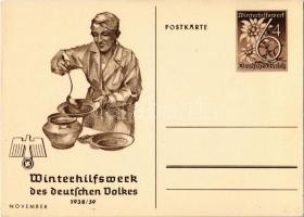 Winterhilfswerk (WHW) des deutschen Volkes 1938-39 November / Winter Relief of the German People NSDAP Nazi Party propaganda, swastika; 6+4 Ga.