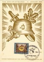 1942 Tag der Briefmarke. Einheitsorganisation der Deutschen Sammler / WWII Day of the German Stamp, NSDAP German Nazi Party propaganda s: Axster-Heudtlass