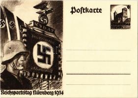 1934 Reichsparteitag Nürnberg / Nuremberg Rally. NSDAP German Nazi Party propaganda, swastika; 6 Ga.