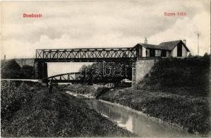 Dombóvár, Kapos kettő vasúti hídja, közúti híd. Bruck Sándor 71.