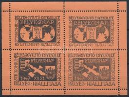 1947 Esztergomi bélyegnap emlékív / souvenir sheet