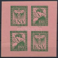 1942 Őszi vásár bélyeggyűjtési propaganda emlékív / souvenir sheet