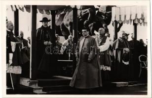 1938 Budapest, XXXIV. Eucharisztikus Kongresszus, Pacelli bíboros és Dr. Mertán János pápai prelátus / Pacelli cardinal (Pope Pius XII)