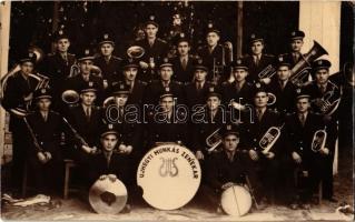 1948 Pécs, Újhegyi Munkás Zenekar, csoportkép / Hungarian music band, group photo