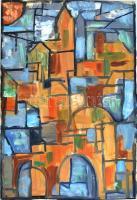 Rácz András (1926-2013): Szentendre. Olaj, farost, jelzett, 66,5x45,5 cm