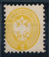 2sld yellow, with original gum. Certificate: Strakosch, 2sld sárga, eredeti gumival Certificate: Strakosch