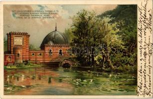1903 Budapest II. Szent Lukács fürdő, Nymphea Thermalis tó. litho s: H.W. (EK)