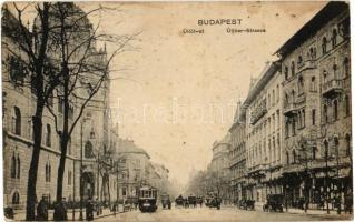 Budapest IX. Üllői út, Iparművészeti Múzeum, 71-es villamosok, automobil, üzletek (fl)