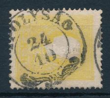 """2kr light yellow """"IPOLYSÁG"""" Certificate: Steiner, 2kr II. tipus világos sárga """"IPOLYSÁG"""" Certificate: Steiner"""