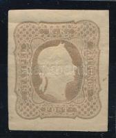 Newspaper stamp  lilac brown reprint with watermark. Certificate: Strakosch, Hírlapbélyeg lilásbarna újnyomat 1884 vízjellel Certificate: Strakosch