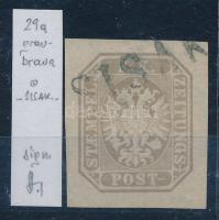 Newspaper stamp, greybrown