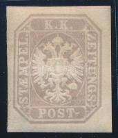 Newspaper stamp, lilac-grey with original gum. Certificate: Strakosch, Lilásszürke Hírlapbélyeg eredeti gumival Certificate: Strakosch