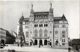 Budapest I. Pénzügyminisztérium palotája, Szentháromság szobor, piac