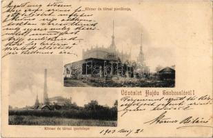 1903 Hajdúszoboszló, Körner és társai ipartelepe és pavilonja (ázott sarok / wet corner)