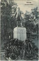 1908 Karcag, Kossuth szobor koszorúkkal. Nagy Lajos kiadása (EK)