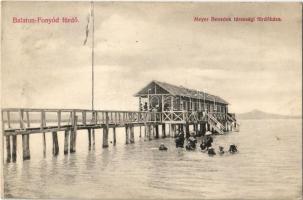 1907 Fonyód, Balaton-Fonyód fürdő; Meyer Benedek társasági fürdőháza (kis szakadás / small tear)