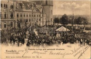 1902 Keszthely, Festetics György szobrának leleplezése. Mérei Ignácz kiadása 1902. 124. (r)