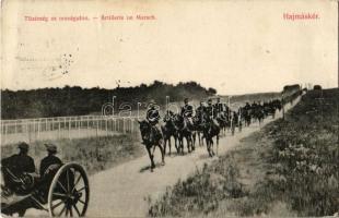 1913 Hajmáskér, Tüzérség az országúton