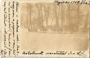 1909 Kaposvár, Nyíres télen lovasszánnal. photo (EK)